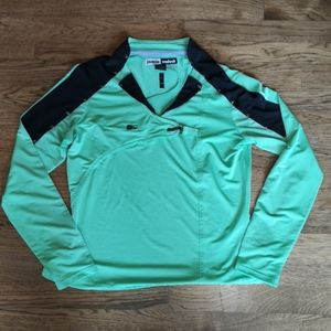 Jamie Sadock Long Sleeve Green Golf Shirt M